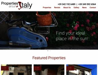 propertiesarounditaly.com screenshot