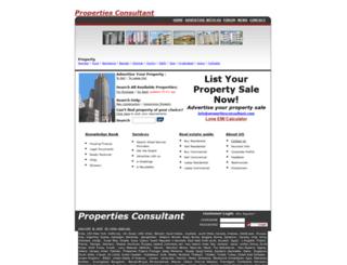 propertiesconsultant.com screenshot