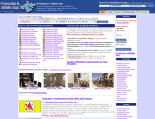 propertiesinmiddleeast.com screenshot