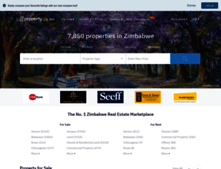 property.co.zw screenshot