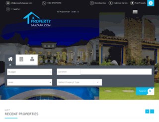 propertybaazaar.com screenshot