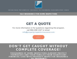 propertyinspectorinsurance.com screenshot