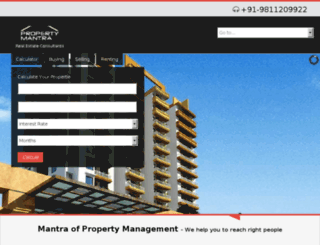 propertymantra.net screenshot
