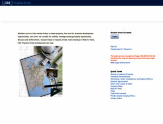 propertyportal.csx.com screenshot