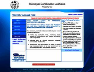 propertytax.mcludhiana.gov.in screenshot