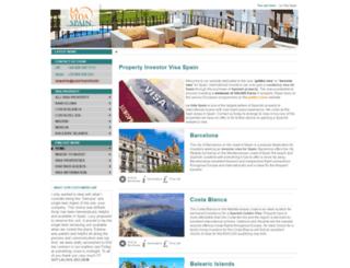 propertyvisaspain.com screenshot