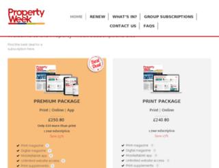 propertyweek.subscribeonline.co.uk screenshot