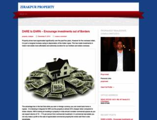 propertyzirakpur.wordpress.com screenshot