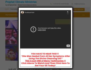 prophetclimate.net screenshot