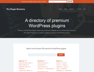 proplugindirectory.com screenshot