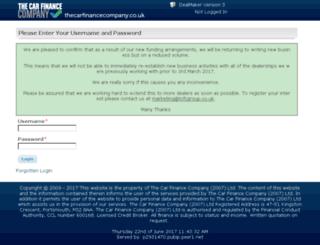 propman.thecarfinancecompany.co.uk screenshot
