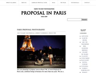 proposal-in-paris.com screenshot