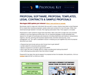 proposalkit.com screenshot