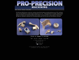 proprecisionmachining.com screenshot