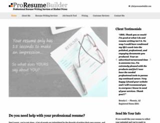 proresumebuilder.com screenshot