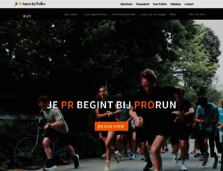 prorun.nl screenshot
