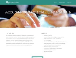 prosalestax.com screenshot