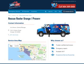 proserveplumbing.com screenshot