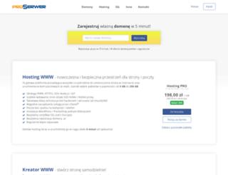 proserwer.pl screenshot