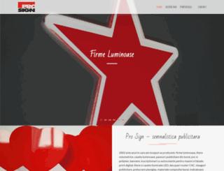 prosign.ro screenshot