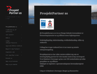 prosjektpartner.biz screenshot