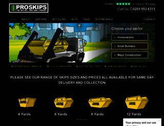 proskips.co.uk screenshot