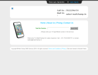 prosms.mailchamp.in screenshot