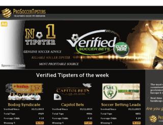 prosoccertipsters.com screenshot