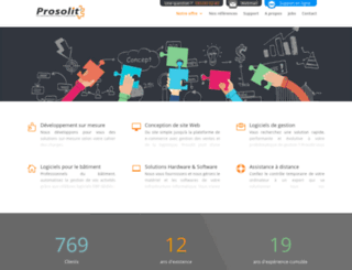 prosolit.be screenshot