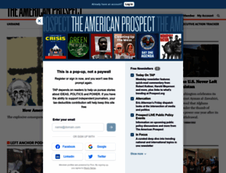 prospect.org screenshot