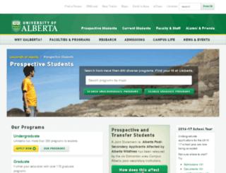 prospective.ualberta.ca screenshot
