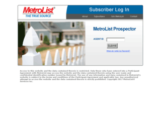 prospector.metrolistmls.com screenshot
