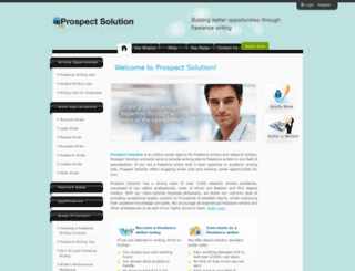 prospectsolution.com screenshot