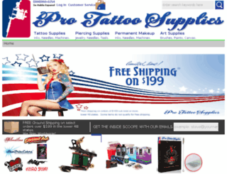 protattoosupplies.com screenshot