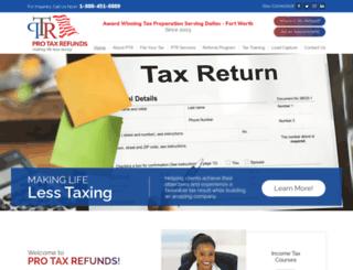 protaxrefunds.com screenshot