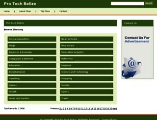 protechbelize.com screenshot