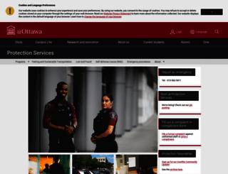 protection.uottawa.ca screenshot