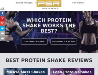 proteinshakereviews.com screenshot
