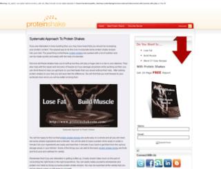 proteinshakes4u.com screenshot