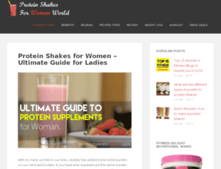 proteinshakesforwomenworld.com screenshot