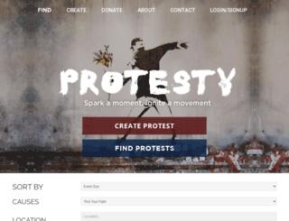 protesty.org screenshot