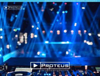 proteus-veranstaltungstechnik.de screenshot