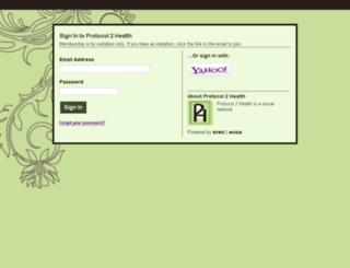 protocol2health.ning.com screenshot