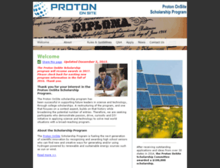 protonenergyscholarship.com screenshot