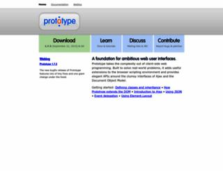 prototypejs.org screenshot