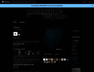 prototyperaptor.bandcamp.com screenshot