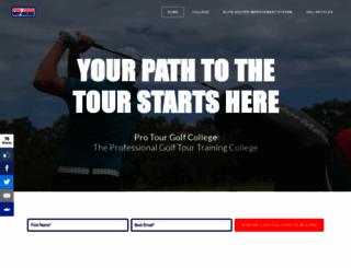 protourgolfcollege.com screenshot