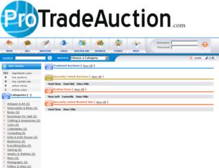 protradeauction.com screenshot