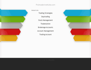 protraderinstitute.com screenshot