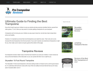 protrampolinereviews.com screenshot